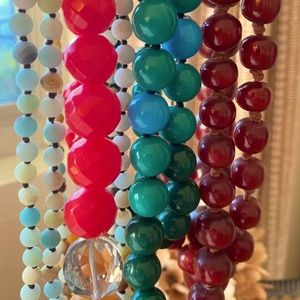 Lot of 4 beaded necklaces.